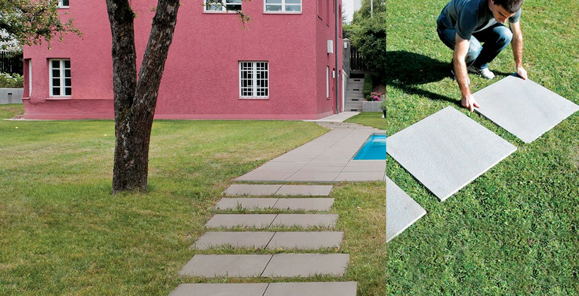 Piastrellare giardino con gres porcellanato evo 2 e mirage - Come piastrellare un muro esterno ...