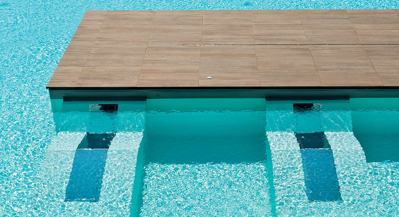 Carrelage pour piscine en gr s c rame evo 2 e mirage for Carrelage piscine