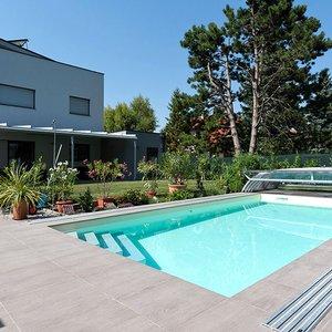 Carrelage pour piscine en gr s c rame evo 2 e mirage for Case con verande tutt attorno