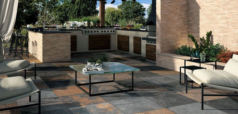 Outdoor tiles made from stylish ceramic mirage for Carrelage 15x15
