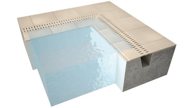 swimming pool overflow edge tiles
